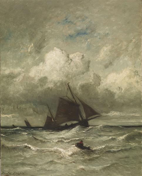 At Sea, 1870 - Jules Dupré