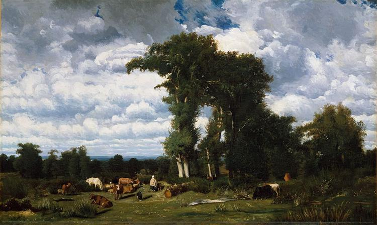 Landscape with Cattle at Limousin - Jules Dupre
