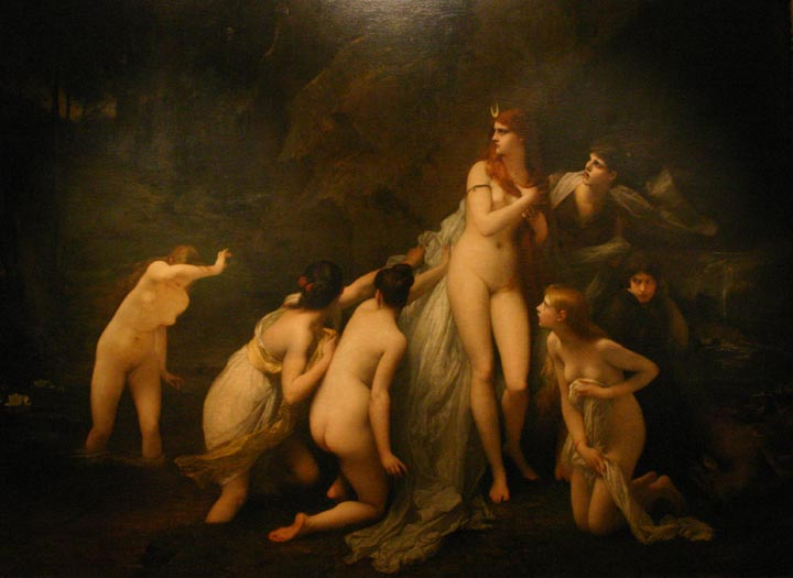 Diana Surprised, 1879 - Jules Joseph Lefebvre