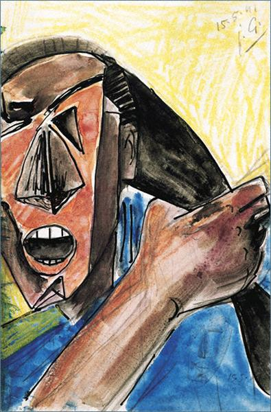 Visage criant a la grande main, 1941 - Julio Gonzalez