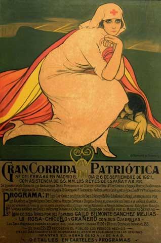 Cartel corrida benéfica de toros, 1921 - Julio Romero de Torres