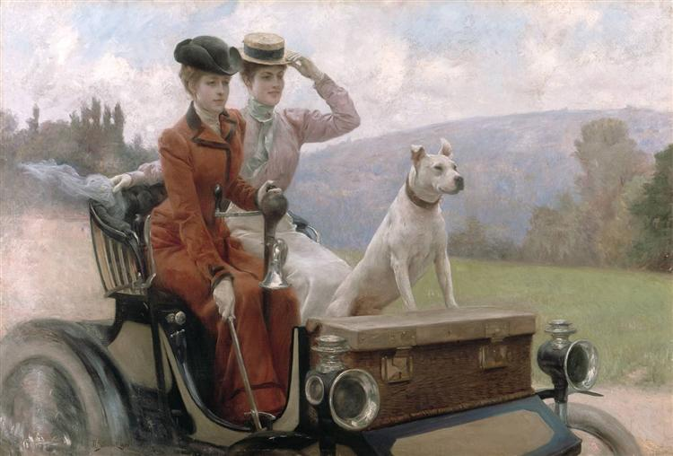 End of Summertime, the ride, form the cover of 'Soleil du dimanche', sunday 20th of October 1901, 1901 - Юлиус Леблан Стюарт
