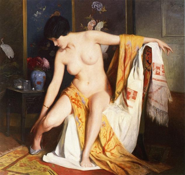 Nude in an Interior, 1914 - Julius Stewart