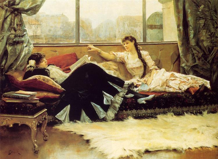 Sarah Bernhardt and Christine Nilsson, 1883 - Julius LeBlanc Stewart