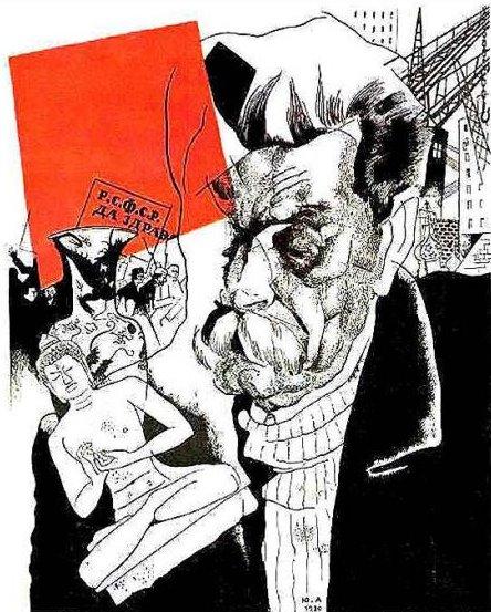 Portrait of Maxim Gorky, 1920 - Jury Annenkov