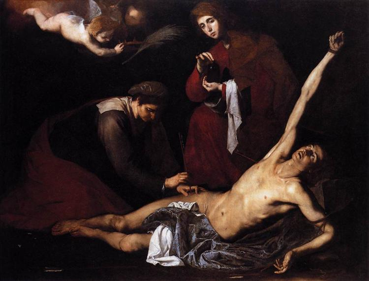 St. Sebastian Tended by the Holy Women, 1621 - Jusepe de Ribera