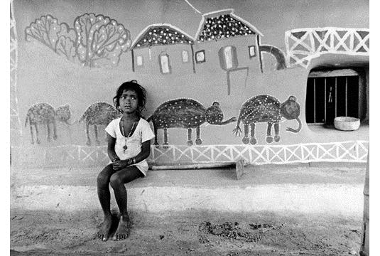 A child in Santiniketan, Birbhum, West Bengal, 1978 - Jyoti Bhatt