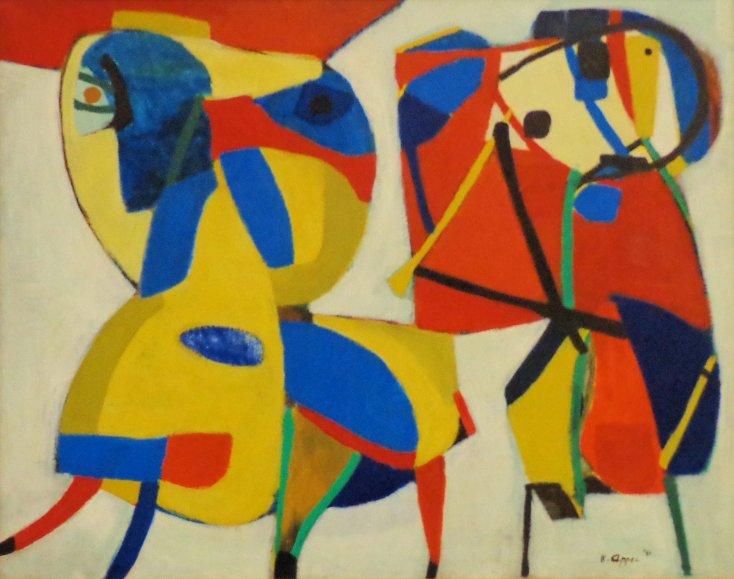Horse and Flute Player, 1951 - Karel Appel