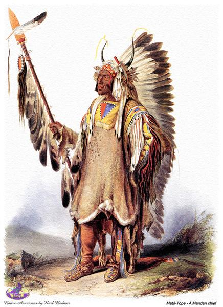 Mato-Tope, a Mandan chief, 1833 - Karl Bodmer