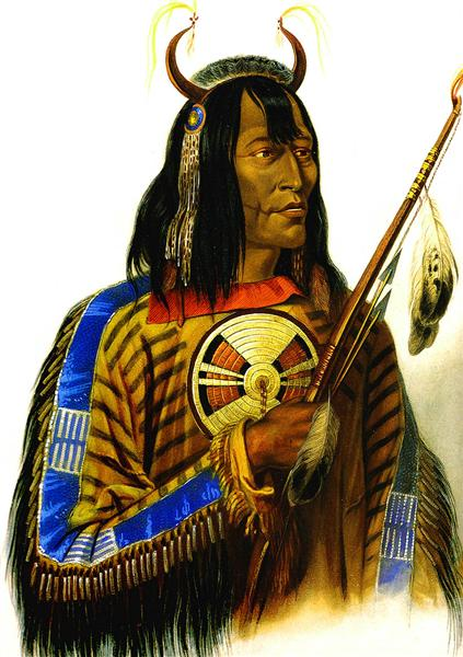 Noapeh Assiniboin Indian, 1833 - Karl Bodmer