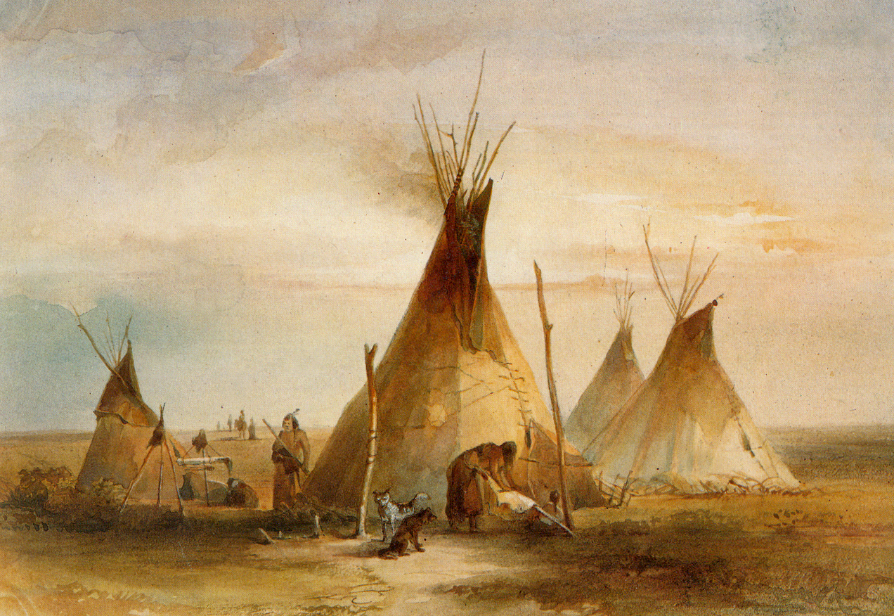 Sioux teepee from Volume 1 of 'Travels in the Interior of North ...