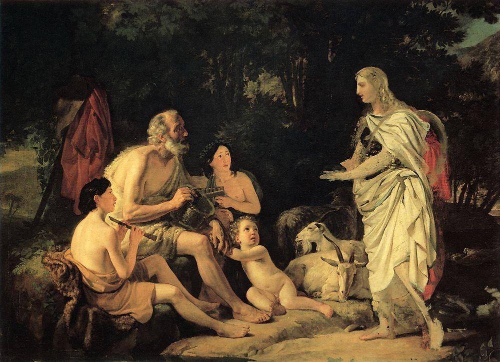 Erminia and the Shepherds, 1824