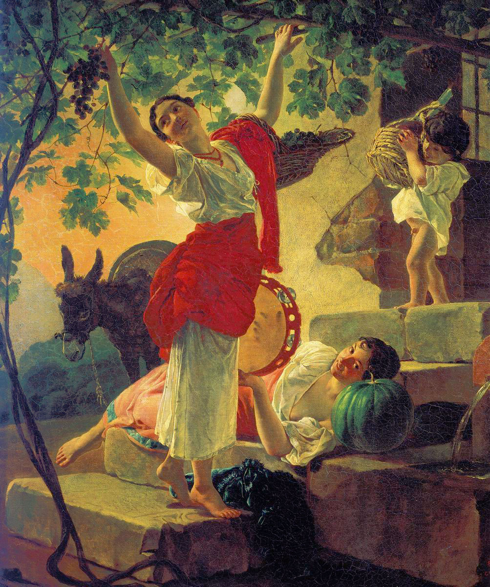 Girl Gathering Grapes in a Suburb of Naples, 1827