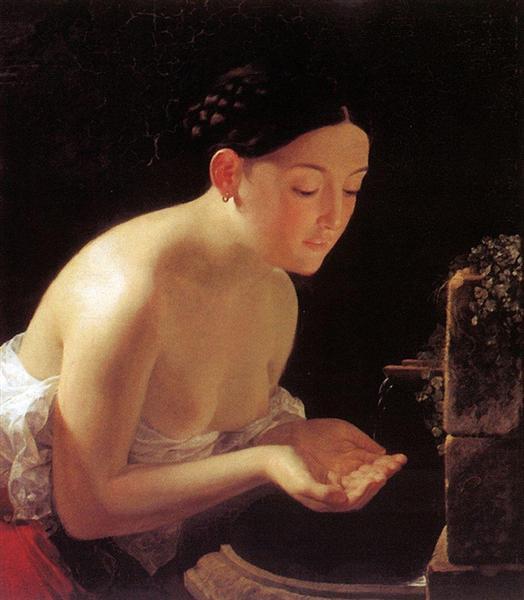 Итальянское утро, 1823 - Карл Брюллов