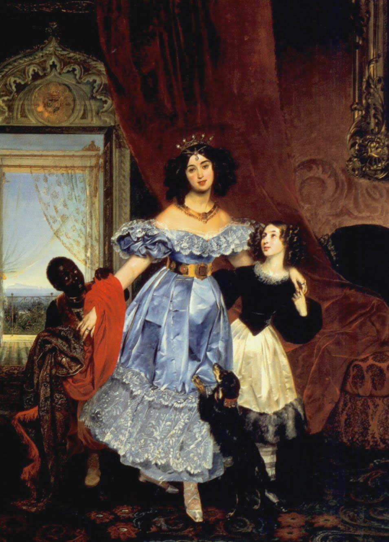 брюллов портрет самойловой с арапчонком крепление кулера