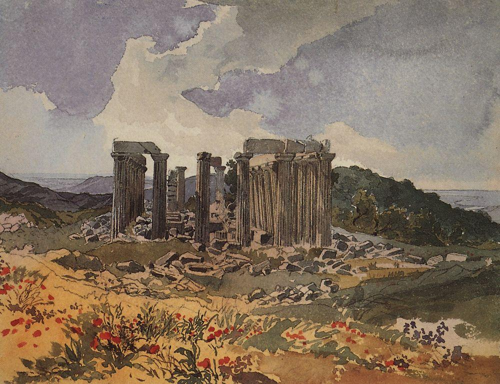 Temple of Apollo in Phigalia, 1835