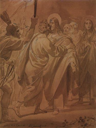 The Judas kiss - Karl Bryullov