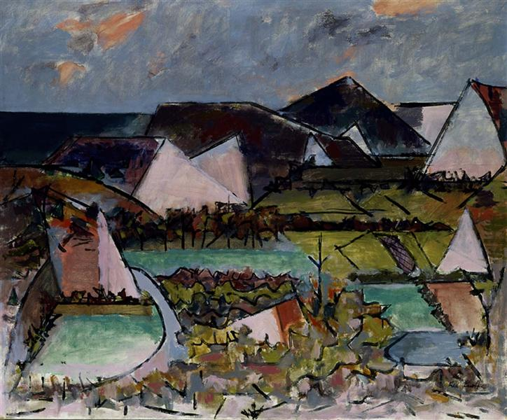 The Gale at Force Hollow - Karl Knaths