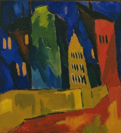 Houses at Night, 1912 - Karl Schmidt-Rottluff