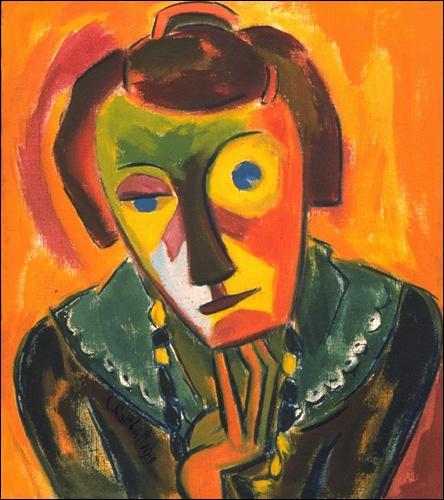 Portrait of Emy, 1919 - Karl Schmidt-Rottluff