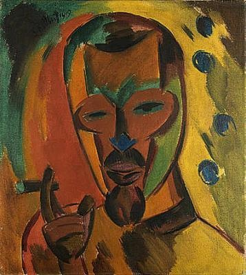 Self-Portrait with Cigar, 1919 - Karl Schmidt-Rottluff