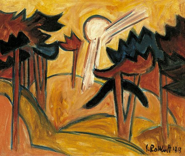 Sun over the Pine Forest, 1913 - Karl Schmidt-Rottluff