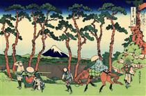 Hodogaya sul Tokaido - Katsushika Hokusai