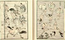 Immagini di bagnanti (persone che fanno il bagno) - Katsushika Hokusai