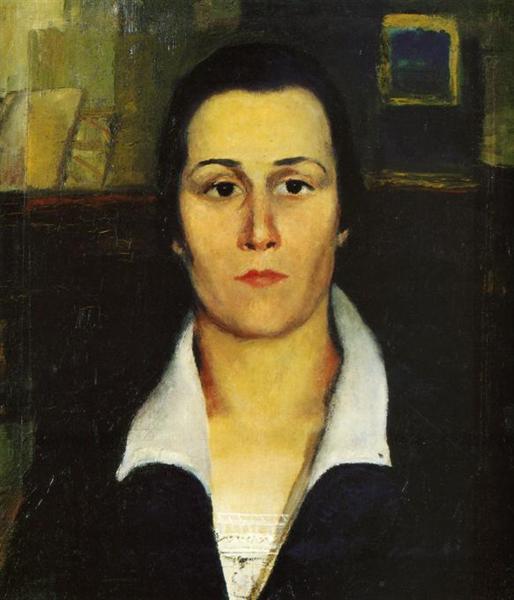 Portrait of a Woman - Kazimir Malevich - WikiArt.org ...