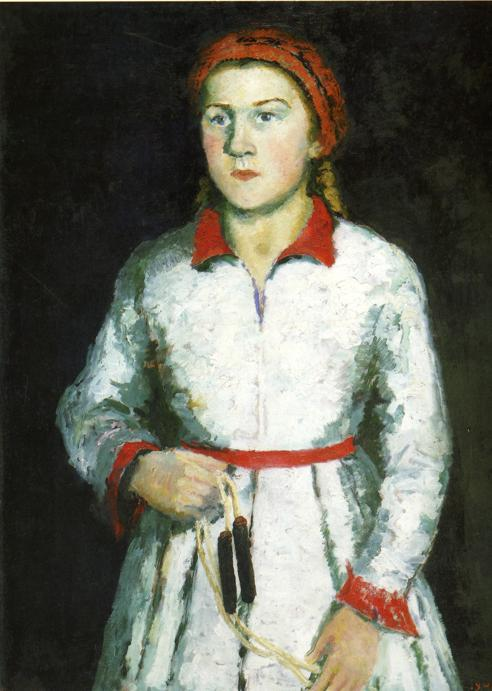 Portrait of Artist s Daughter - Kazimir Malevich - WikiArt ...