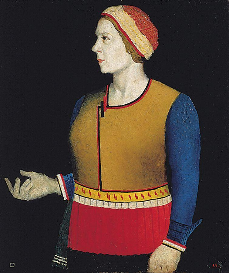 Portrait of Artist s Wife N.A. Malevich, 1933 - Kazimir ...