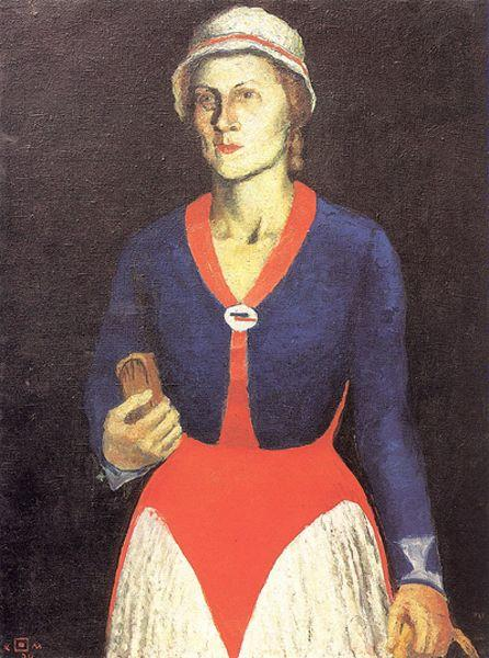 Portrait of the Artist's Wife, 1934 - Kazimir Malevich ...