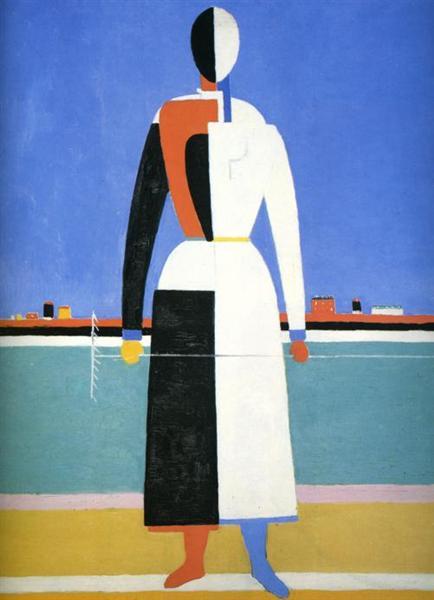 Woman with Rake, c.1932 - Kazimir Malevich