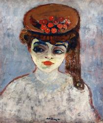 Woman with Cherries on Her Hat - Kees van Dongen