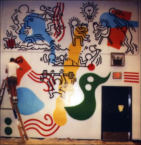 Boys Club Mural, 1987 - Keith Haring