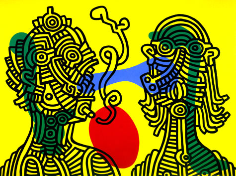 Keith and Julia, 1986 - Keith Haring
