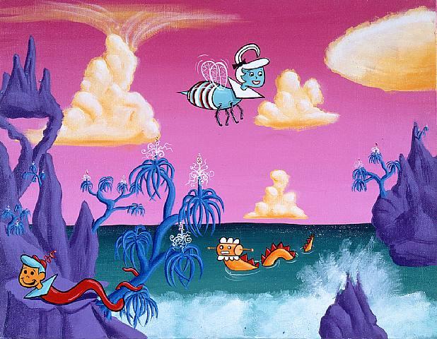 Hannah Barbaric Paradise, 1981 - Kenny Scharf