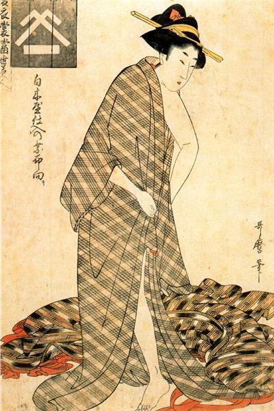Reigning Beauty Hanozuma - Utamaro
