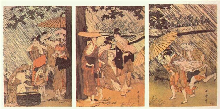 Shower - Utamaro