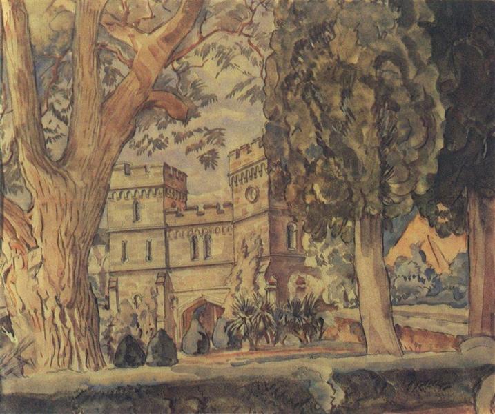 Часовые башни Алупкинского дворца, c.1925 - Константин Богаевский