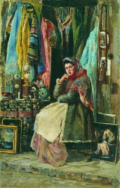 Antique Shop - Konstantin Makovsky