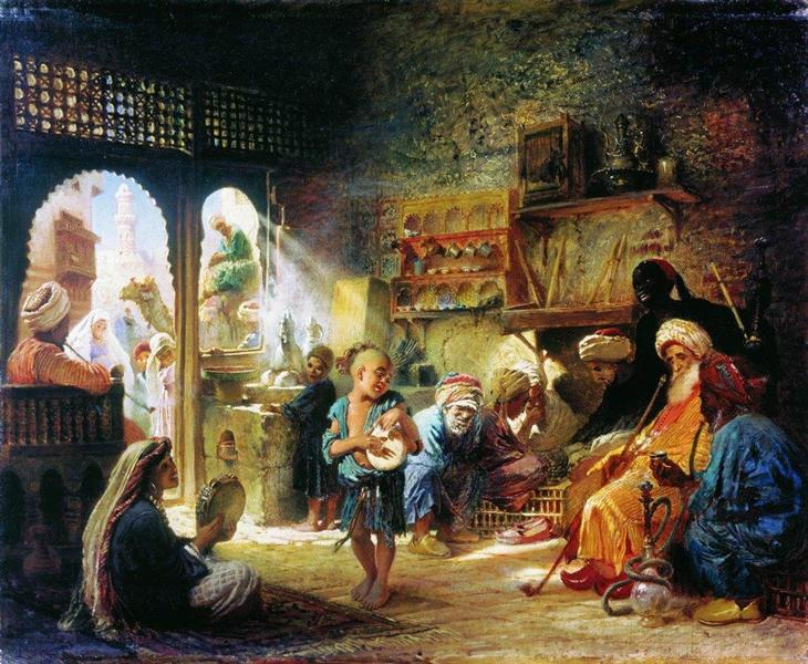 Coffee House in Cairo, 1872 - Constantin Makovski