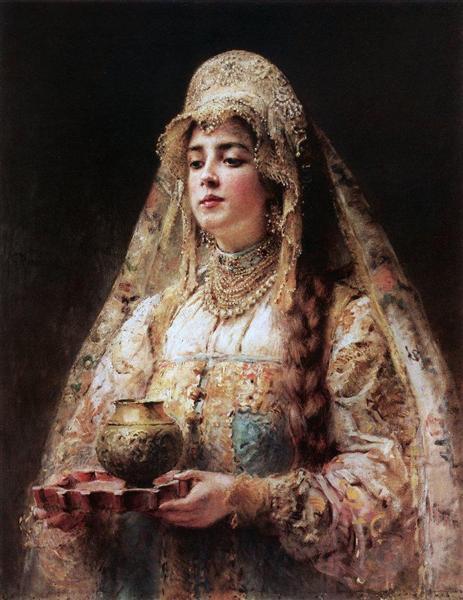Cup of honey, c.1890 - Konstantin Makovsky