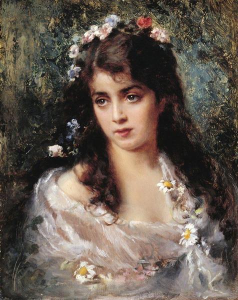 Girl dressed as Flora - Konstantin Makovsky