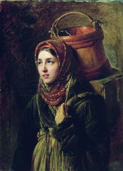 Herring Dish, 1867 - Konstantin Makovsky