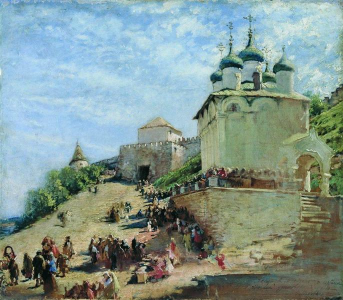 On the square in Ivanovo Congress Nizhny Novgorod Kremlin, c.1890 - Constantin Makovski