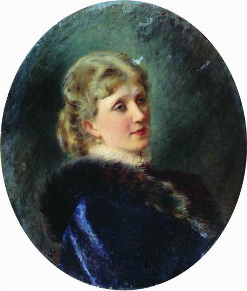 Portrait of Hudenkova, 1885 - Konstantin Makovsky