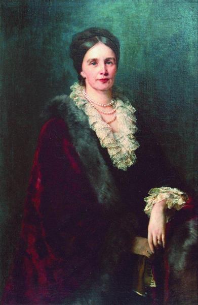 Portrait of P.Uvarova - Konstantin Makovsky