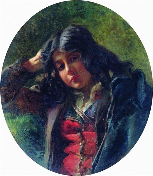 Portrait of the Boy, 1875 - Konstantin Makovsky