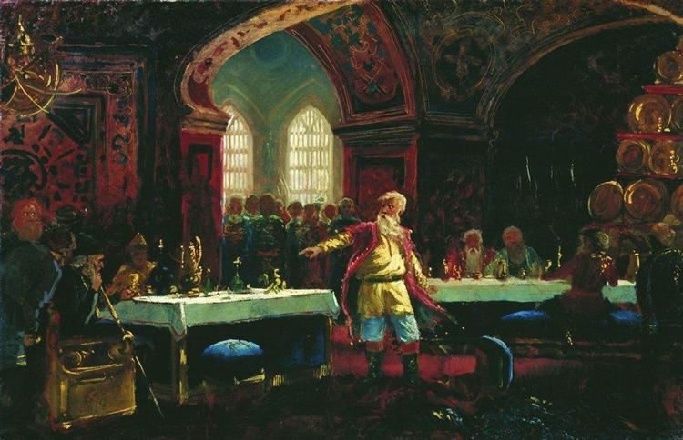 Prince Repin at the Banquet of Ivan the Terrible, c.1880 - Konstantin Makovsky